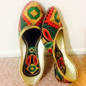 Shoes - Got Married Crazy Sale! Yellow Embroidered Shoes