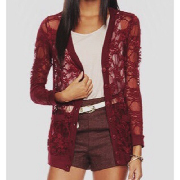 40% off Forever 21 Tops - ❌SOLD❌ Forever21 - Burgundy Lace ...