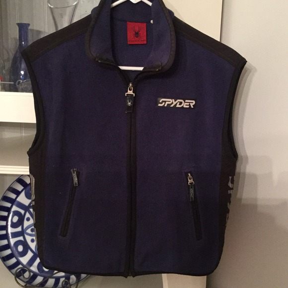 Spyder Jackets Amp Coats Fleece Navy Blue Vest Poshmark