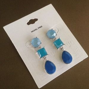 Jewelry - Blue Statement Earrings