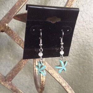 ✨Add on Item✨ Turquoise Starfish Earrings