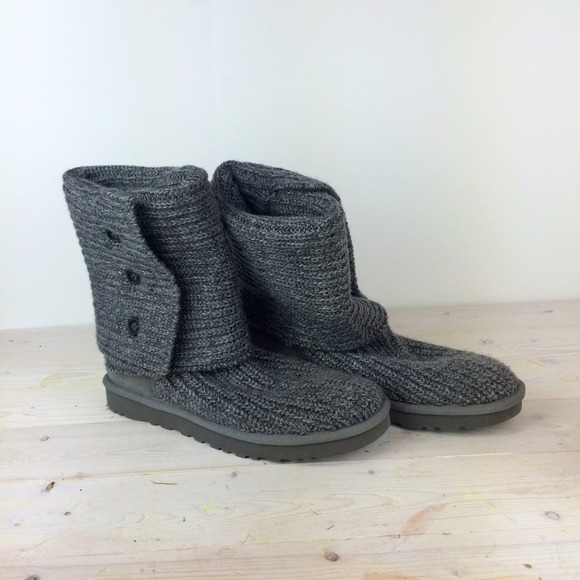 UGG Shoes - UGG Classic Cardy Boots in Grey