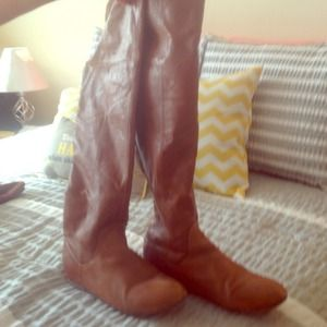 Chinese Laundry tan over the knee boot.