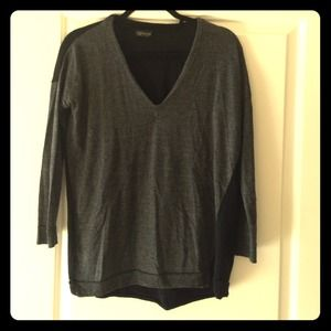 Top shop black and grey sweater