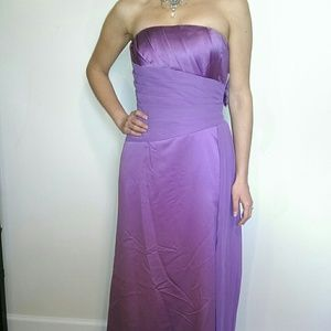 NWT! Purple wisteria strapless long gown