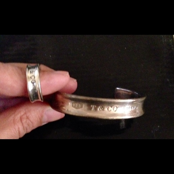 9870a6e9d Tiffany & Co. Jewelry | Tiffany Co 1837 Large Cuff And Ring Size 7 ...