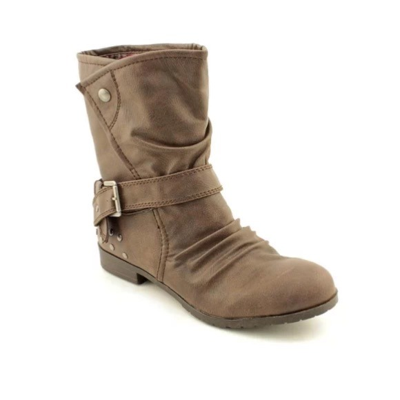 72% off Material Girl Boots - Material girl dark brown fold over ...