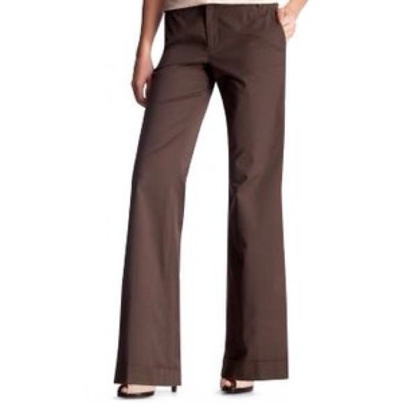 80% off GAP Pants - ‼️FLASH SALE‼️Gap Brown Stretch Wide Leg ...