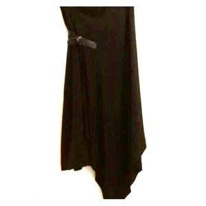 Black High/Low Wrap Skirt