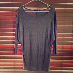 Forever 21 Tops - 🌿Taupe tunic with lots of sparkle