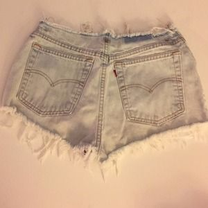 Original vintage Levi's high waisted shorts
