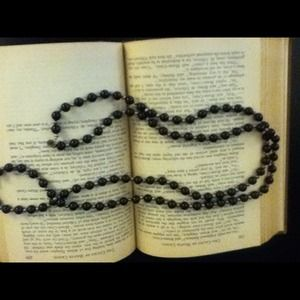 Black and Gold Colored Bead Necklace