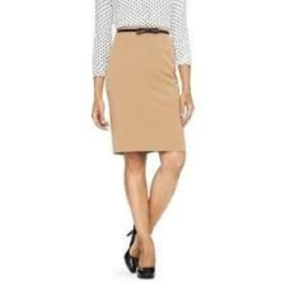 79% off Merona Dresses & Skirts - Tan Pencil Skirt from Cristina's ...