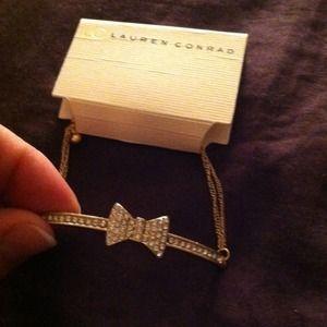 A bow bracelet