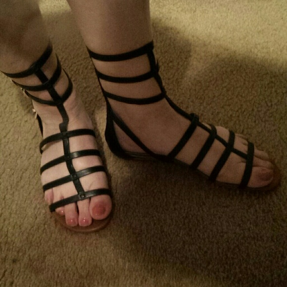 Black easy on Gladiator Sandals NWT