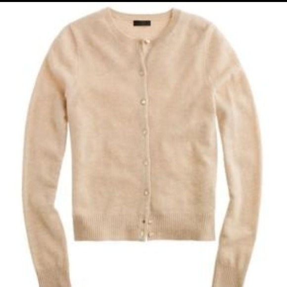 87% off J. Crew Sweaters - Tan cashmere cardigan fromJ Crew!! from ...