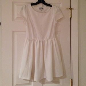 Sabo Skirt White Heart Cut Out Dress