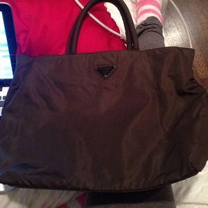 68c61db3c91 ... prada small nylon messenger bag - Prada - Prada Brown Nylon Bag from  Nicole u0026 ...