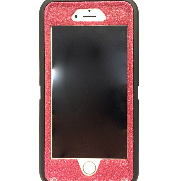 online store 571cf 0db71 Otterbox defender red glitter case for iphone6 NWT