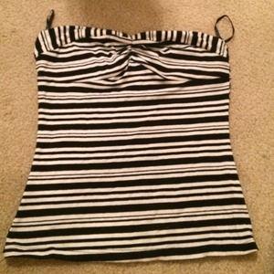 Papaya Tops - Black and striped top