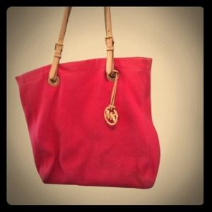 firm! 💯Auth Michael Kors pink magenta tote bag