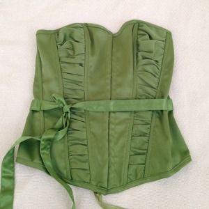 Charlotte Russe Tops - Beautiful Green Corset