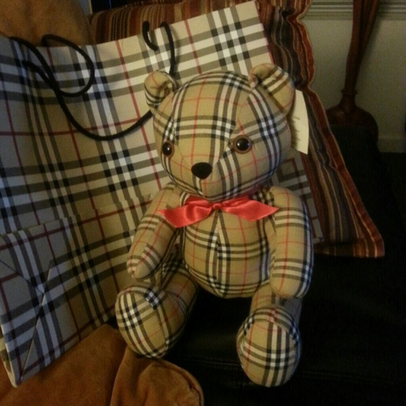 burberry not for sale authentic burberry teddy bear with from dona 39 s closet on poshmark. Black Bedroom Furniture Sets. Home Design Ideas