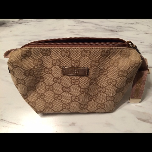908bb3ffef1cac Gucci Bags | Authentic Vinyl Canvas Cosmetic Pouch Bag | Poshmark