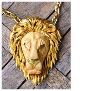 Luke Razza Jewelry - Vintage Statement Razza Lion Necklace