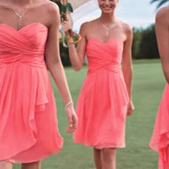 d4cabb0a4414 davids bridal Dresses | Short Crinkle Chiffon Dress Style F14847 ...