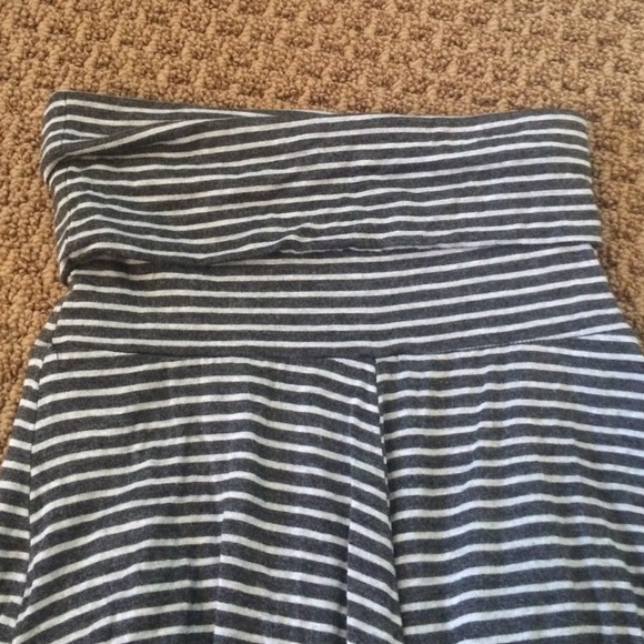 46% off Dresses & Skirts - Gray and White Striped Maxi Skirt from ...