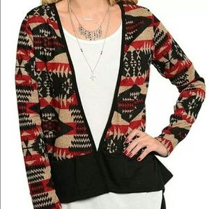 Jackets & Blazers - New Tribal Aztec Print Cardigan