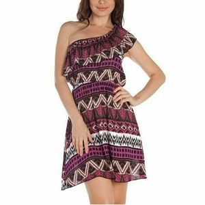 Dresses & Skirts - New One Shoulder Tribal Print Dress