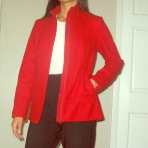 Halogen red wool jacket size medium