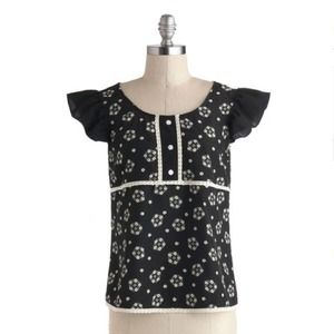 ModCloth Cute Floral Top by Tulle
