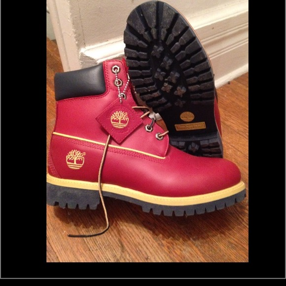 60% off Timberland Other - Mens Red Timberland Boots from ...