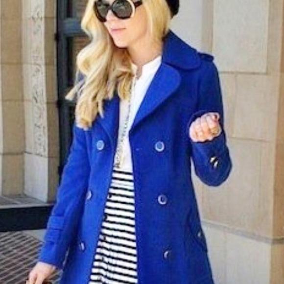 Royal Blue Pea Coat Sm Coats