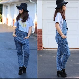 Denim - Acid Wash Overalls