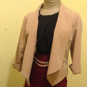 Jackets & Blazers - Detailed back 3/4 sleeve blazer