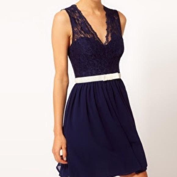 78 asos dresses skirts asos navy blue lace dress