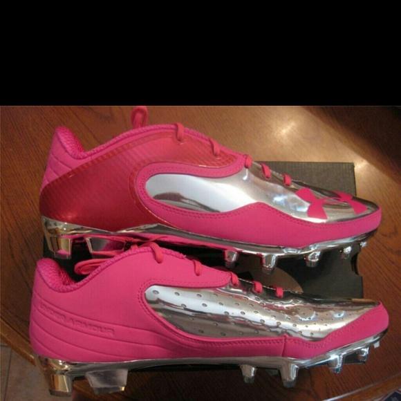 Pink Cam Newton Under Armour Football