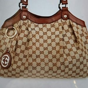 Gucci brown GG canvas medium sukey tote bag
