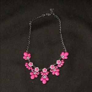 Bright pink Statement necklace