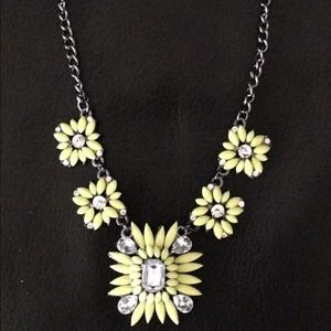 Bright neon yellow statement necklace