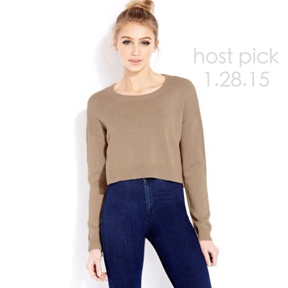 Forever 21 - 🎉HP🎉 Forever 21 Cropped Sweater Taupe Brown from ...