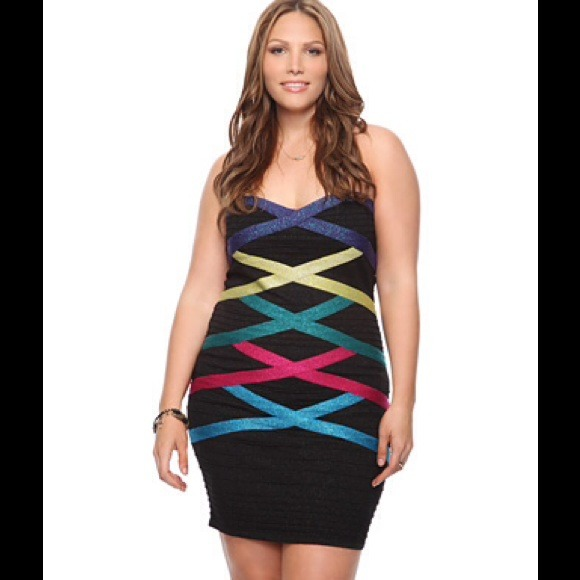 Forever 21 Dresses Plus Size Shimmer Bandage Dress Poshmark