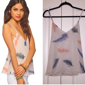 Rory Beca for Forever 21 feather tank top