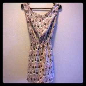 🚫 SOLD💗 Peacock pattern chiffon dress 💗