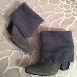 Urban Outfitters Boots - REDUCED Gray suede sweater booties