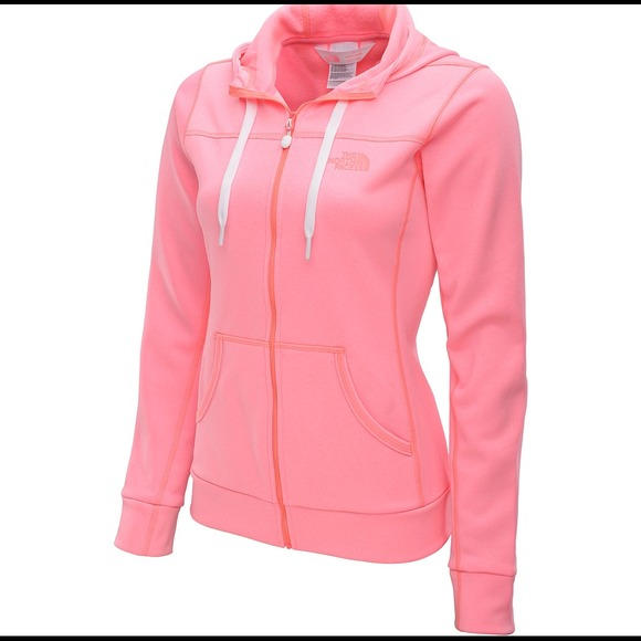 60% off North Face Outerwear - Pink north face zip up jacket with ...